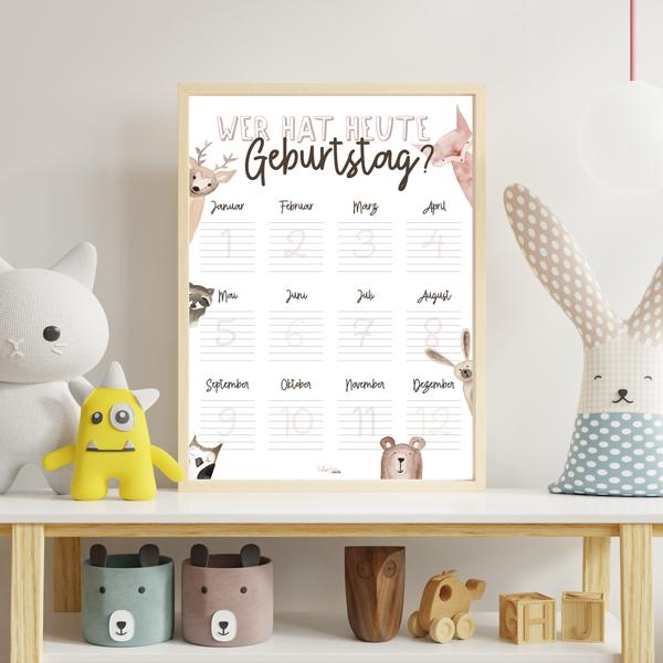 """Kalender """"Wer hat heute Geburtstag? (immer während) - Schwesternwerk Shop"""